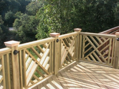 Roller Top Work Stand Wooden Deck Railing Designs
